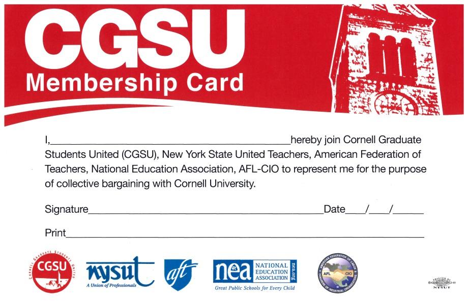CGSU Membership Card from their website